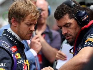 'Bad news Seb, Mark's here.'