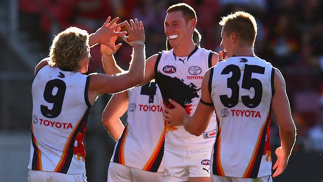 Adelaide forward Tom Lynch announced himself as Taylor Walker's replacement booting 10 goals. Picture: Getty