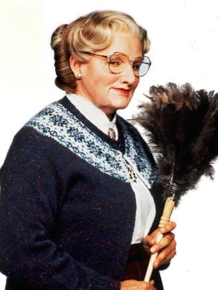Big hit ... Williams in the title role of Mrs Doubtfire (1993).