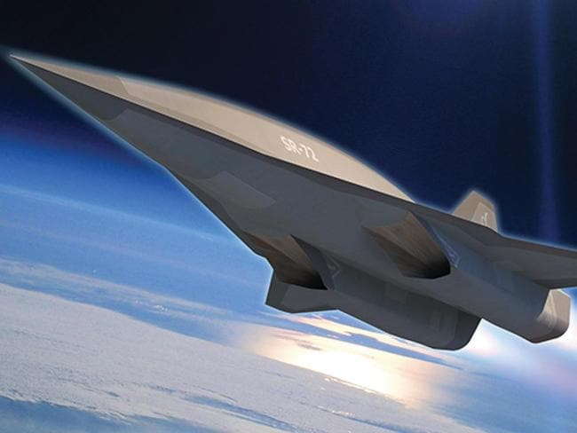 "Son of Blackbird ... this conceptual image shows the proposed design for the SR-72, the ultra-fast and stealthy replacement for the famous SR-71 ""Blackbird""."