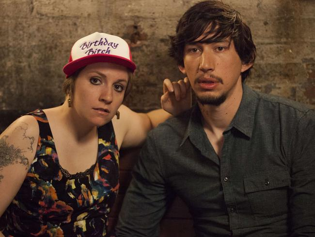 Adam Driver and Lena Dunham in a scene from Girls.