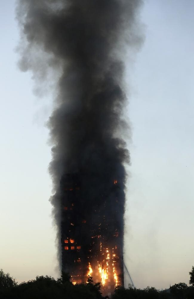 Local campaigners warned in November that the neglect of the tower block would end in tragedy. Picture: Matt Dunham/AP