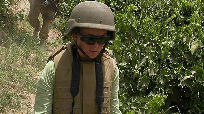 Amanda Lindhout on patrol with Canadian soldiers in Afghanistan, June 2007. Picture: AFP