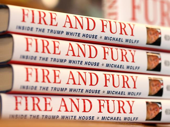 Fire and Fury documents the inner workings of the Trump administration. Picture: AFP