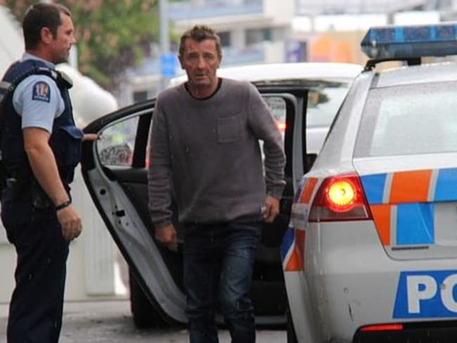 Phil Rudd arrives in court yesterday.