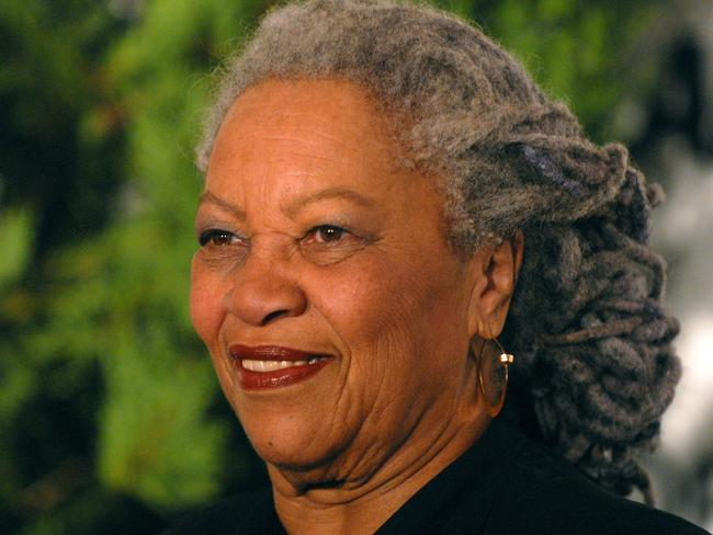 Toni Morrison takes in the sunrise.