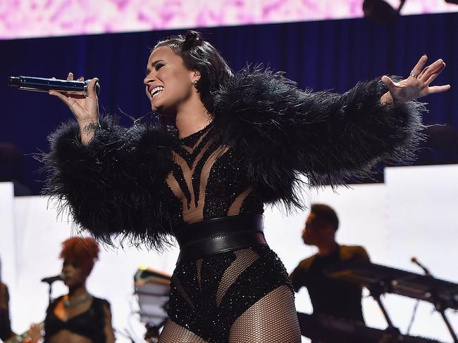 Confident ... Demi Lovato performs onstage at the 2015 iHeartRadio Music Festival in Las Vegas. Picture: Kevin Winter/Getty Images for iHeartMedia