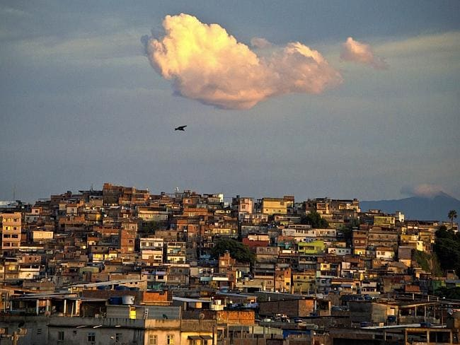 Underworld city ... the Favela da Mare shantytown complex, a drug-trafficking stronghold and considered one of the most dangerous places in Rio de Janeiro. Picture: Vanderlei Almeida