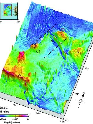 New look...The map may help searchers decide which underwater robots can be help find wre