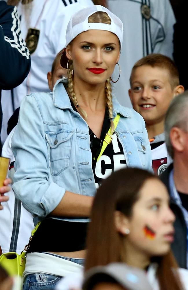 Lena Gercke, girlfriend of Sami Khedira of Germany.