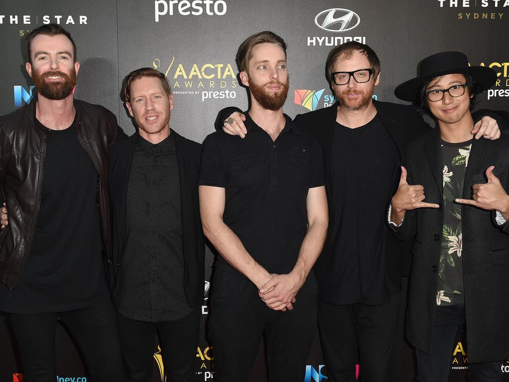 Birds of Tokyo arrive ahead of the 5th AACTA Awards Presented by Presto at The Star on December 9, 2015 in Sydney, Australia. Picture: AAP