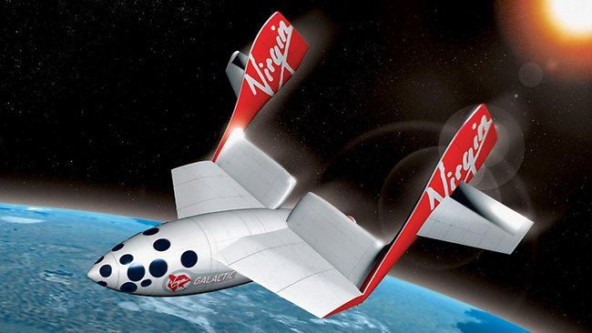 Virgin Galactic space ship. Picture: Supplied