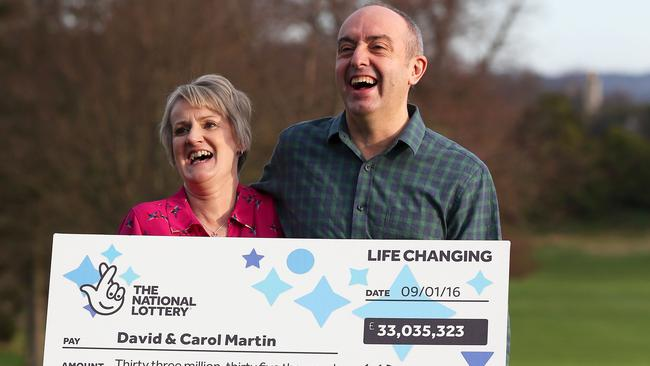 Life will look a little different for lotto winners David and Carol Martin. Picture: Andrew Milligan/PA Wire