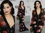 Dita Von Teese attends amfAR's 21st Cinema Against AIDS Gala. Picture: Getty