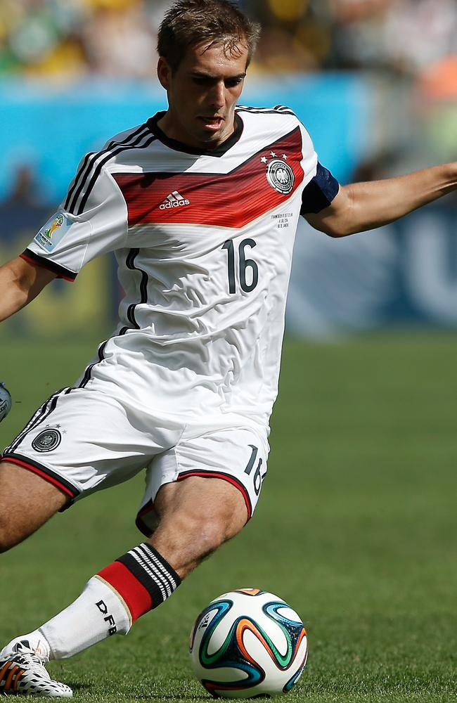 Philipp Lahm during the World Cup quarter-final football match between France and Germany.
