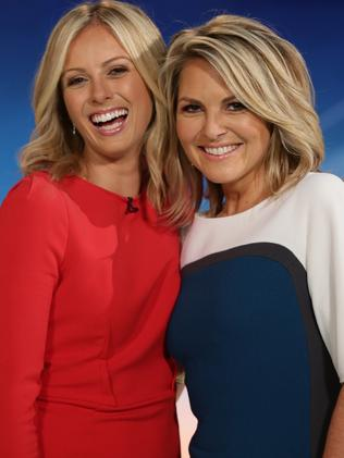 Georgie Gardner (right) with replacement Sylvia Jeffreys.