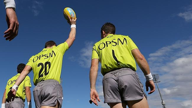 AFL umpires have been letting the play go far more early on in 2014. Picture: Getty Images