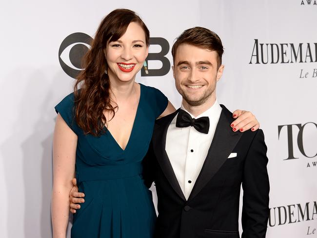 Best friends ... Erin Darke and Daniel Radcliffe at this year's Tony Awards.