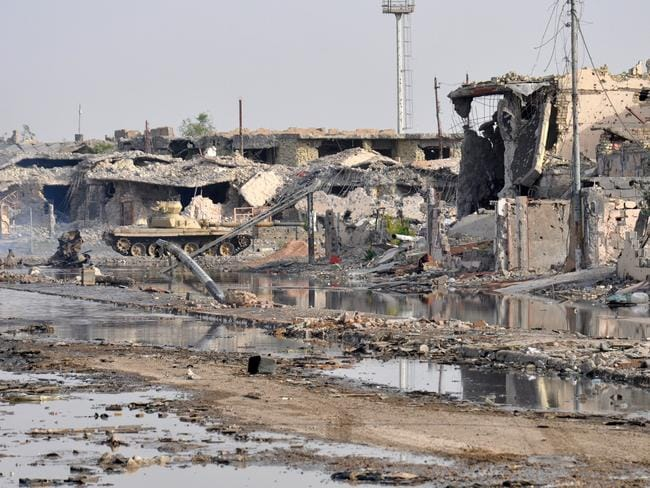 Total destruction ... building in the city of Ramadi in the Anbar province were damaged during fightings between government forces including fighters of the Sunni anti-Al-Qaeda militia Sahwa (Awakening) and anti-government militants, including from the jihadist Islamic State of Iraq and the Levant (ISIL).