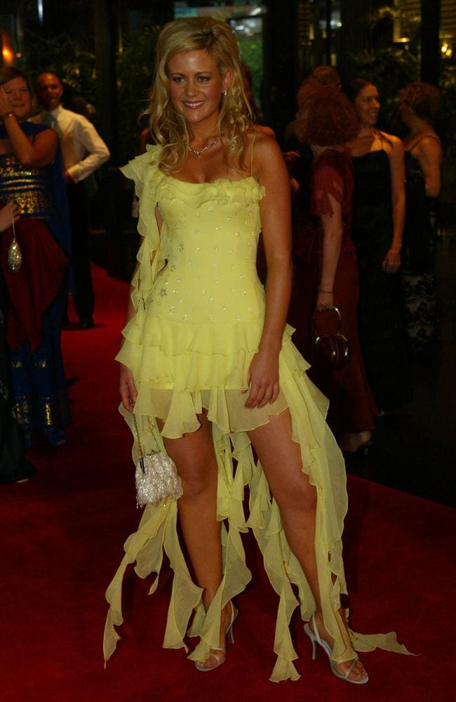 Rachel Carpani went for a bright yellow and shredded look in 2004 (Pic Wayne Ludbey)