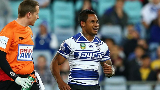 Ben Barba limps off against the Eels. Photo by Cameron Spencer/Getty Images
