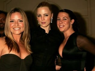 Home & Away alumnae and friends Toni Pearen, Melissa George and Kate Richie. Photo: Getty
