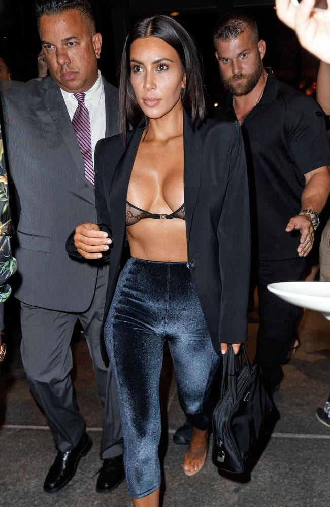 On display. Kim Kardashian shows off her famous assets in New York. Picture: Splash