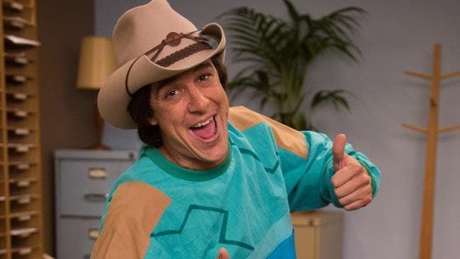 Too many promos? ... Samuel Johnson as Molly Meldrum for Ch7 miniseries Molly. Pic by Ben Timony