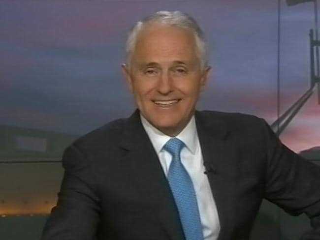 Interview fail: Turnbull bails on 7.30 when division is called. Picture: ABC