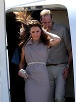 Their Royal Highnesses the Duke and Duchess of Cambridge, Prince William and Duchess Kate arrive at Ayers Rock Airport,Yulara. Picture Gregg Porteous