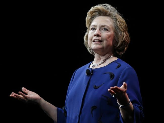 Not telling... Hillary Clinton says she has not decided on a presidential run. Picture: AP