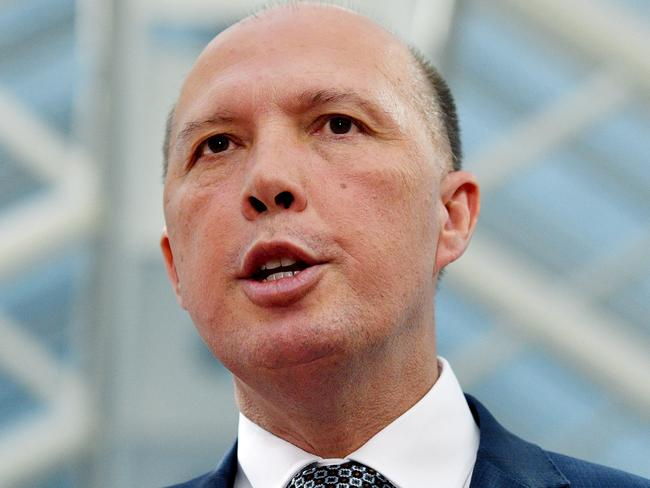 Minister for Home Affairs Peter Dutton is being urged by South African leaders to withdraw his comments. (AAP Image/Mick Tsikas)