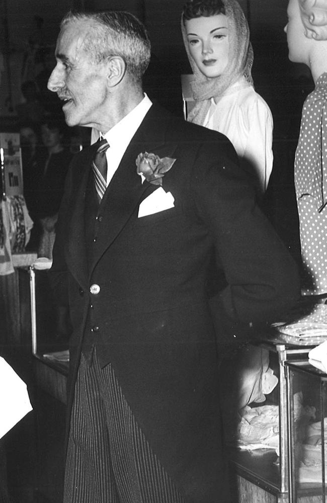 Mr Hubert Hunter, was a floor walker at Buckley and Nunn's Department store in 1951. Picture: Herald Sun Image Library / ARGUS