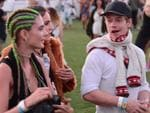 Alfie Allen who stars as Theon Greyjoy on the hit series Game Of Thrones is seen with some friends on day 1 of the Coachella Music Festival in Indio, Ca. Picture: Splash News