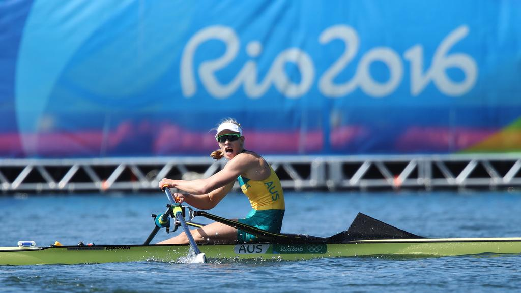 lagoa singles Rowing - single sculls (1x) women  america on the podium at the medal ceremony for the women's single sculls on day 8 of the rio 2016 olympic games at the lagoa stadium on august 13.