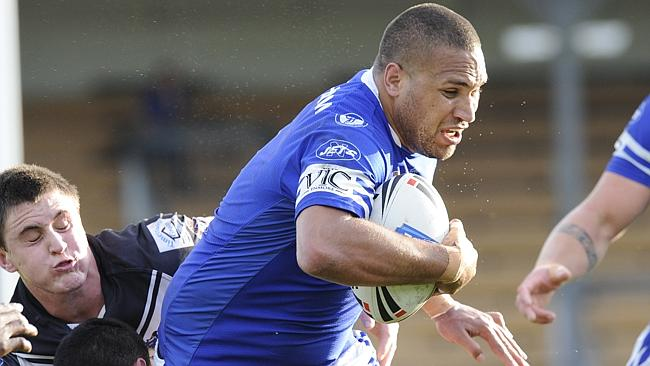 Gordon in action for the Newtown Jets against the Wentworthville Magpies at Leichhardt Oval.