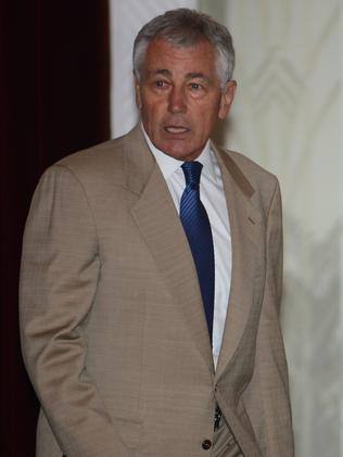"""ISIL a """"threat to the civilised world"""" ... US Secretary of Defence Chuck Hagel. Picture: AFP"""