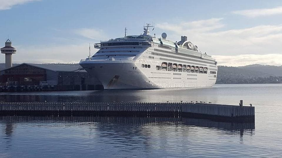 Cruise Ship Passenger Evacuation Part Of Dockside Fire Drill In - Princess cruise ship fire