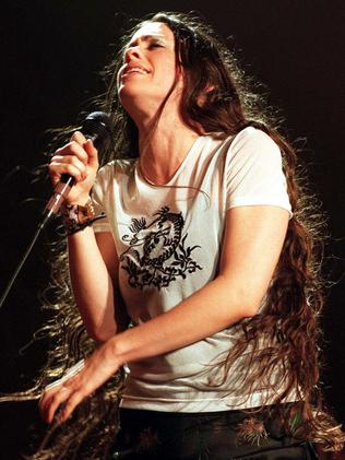Alanis Morissette in Brisbane in 1999: Pic: Supplied