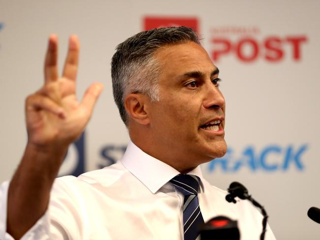 Australia Post CEO Ahmed Fahour announces his resignation in Melbourne,