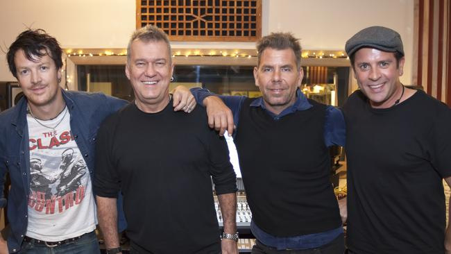 Rocking on ... Jimmy Barnes selected The Living End to revamp Lay Down Your Guns for 30th anniversary album. Picture: Supplied.