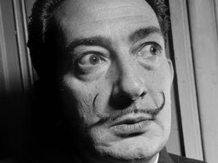 (FILES) This file photo taken in the 50s shows Spanish artist Salvador Dali. Spain court orders on June 26, 2017 exhumation of Dali's remains in paternity claim. / AFP PHOTO / -