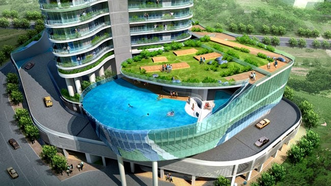 They were designed by architect James Law and Indian real estate company Wadhwa Group. Picture courtesy James Law