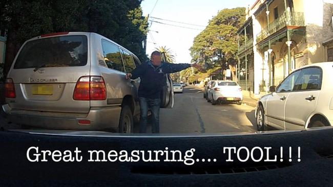 Dashcam video shows the driver saying the Mr Musemici has enough space to fit through. Picture: YouTube