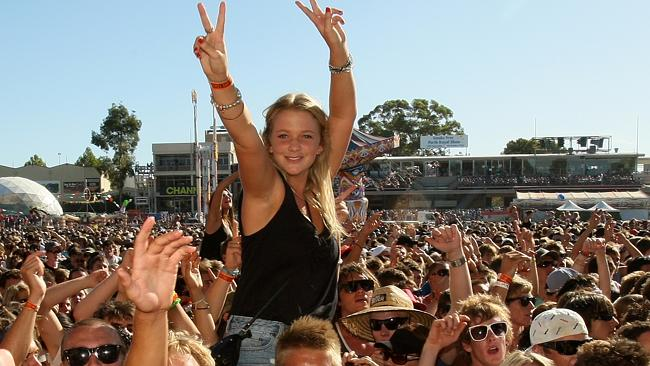 Music fans party at Perth's Big Day Out at Claremont Oval.
