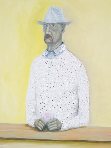 'The Card Player,' Paul Mallam, lawyer/artist, self-portrait.