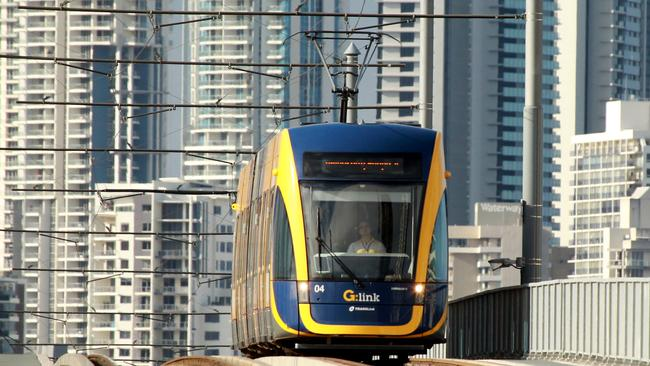 Work will begin on extending the Gold Coast's G: Link tram to Helensvale railway station in 2016. Picture Mike Batterham