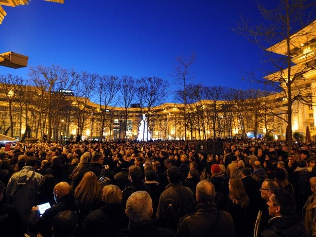 People gather in Montpellier to show support for victims. Picture: AFP SYLVAIN THOMAS