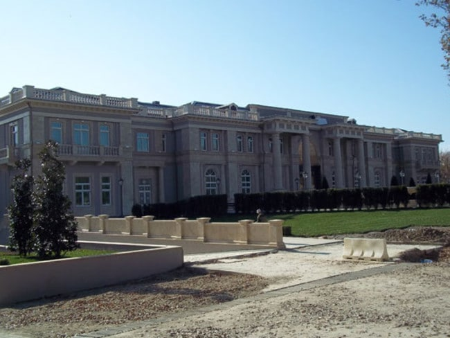 Putin's alleged secret Black Sea palace at the time of building. Picture: Russian Wikileaks