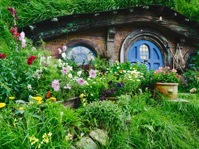 Popular tourist spot ... the Hobbiton movie set in New Zealand attracts thousands of visitors. Picture: Supplied